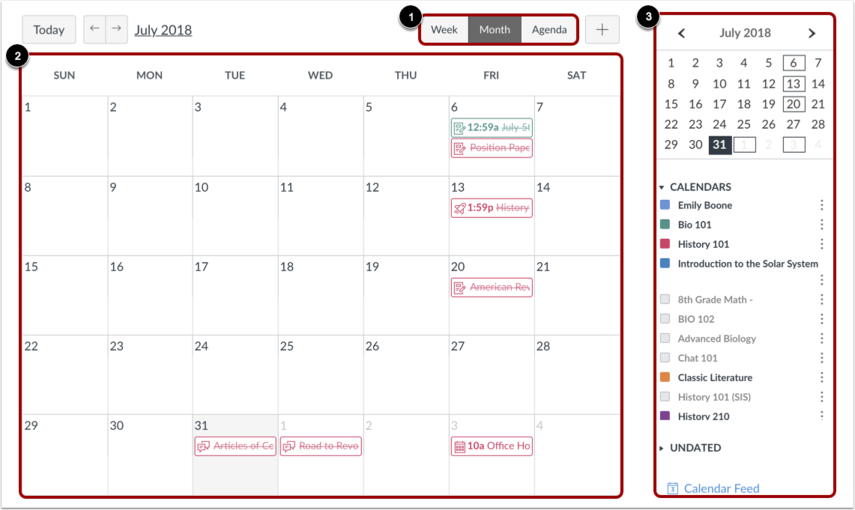 how do i use the calendar as a student canvas lms community