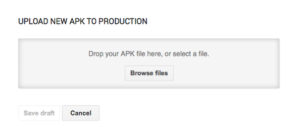 Upload your APK using the Google Play Developer Console.