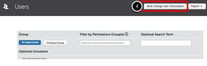 Step 2: Bulk Change User Information