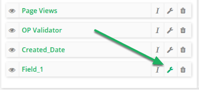 Find the Mashup field in your list and click the pencil (edit) button.