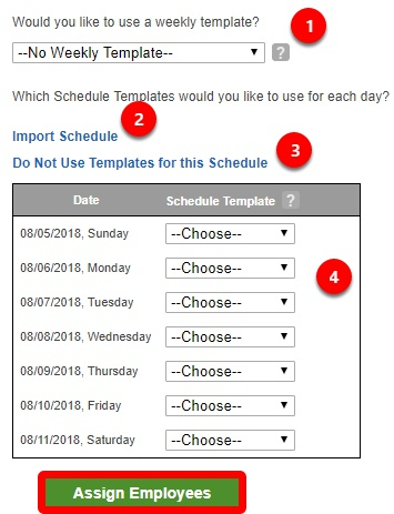 Schedule with or without a template.