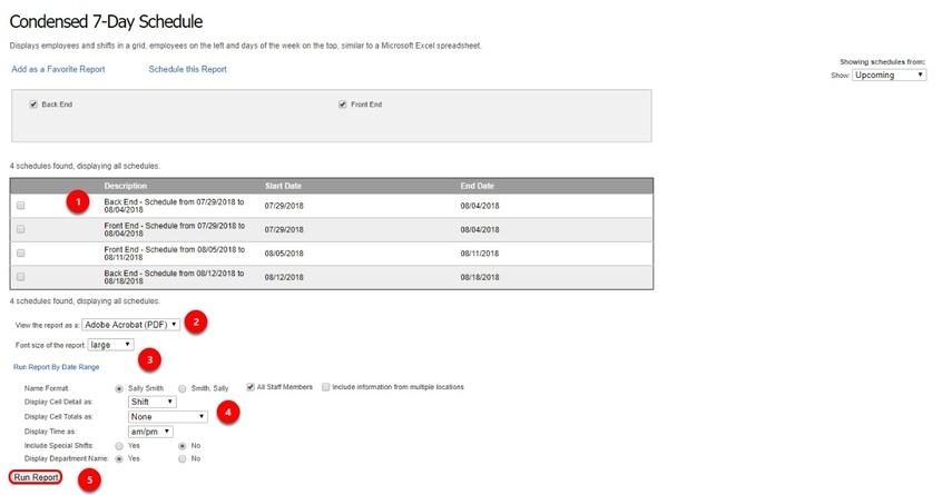 Configure your schedule report.