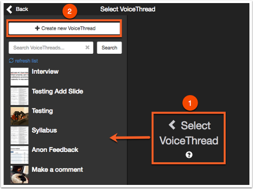 Select VoiceTHread