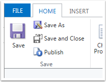 Click Save to save changes and then Publish to make changes available.