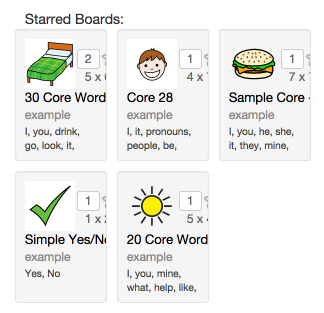 Starred boards on your profile