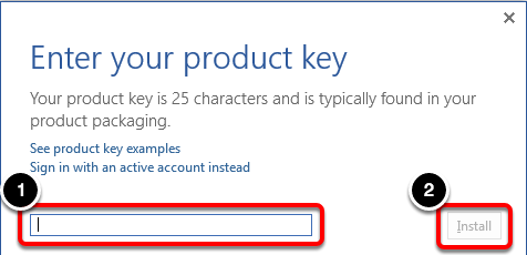 Enter Product Key