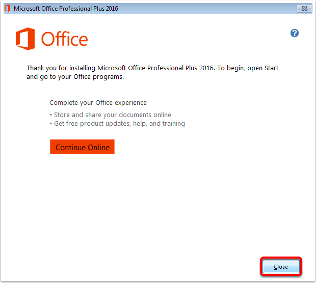 Microsoft Office 2016 - Install on Windows 7 – Oklahoma