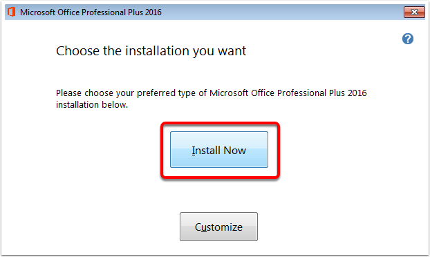 Microsoft Office 2016 - Install on Windows 7 – Oklahoma