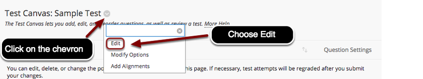Editing the Test Information, Part 2