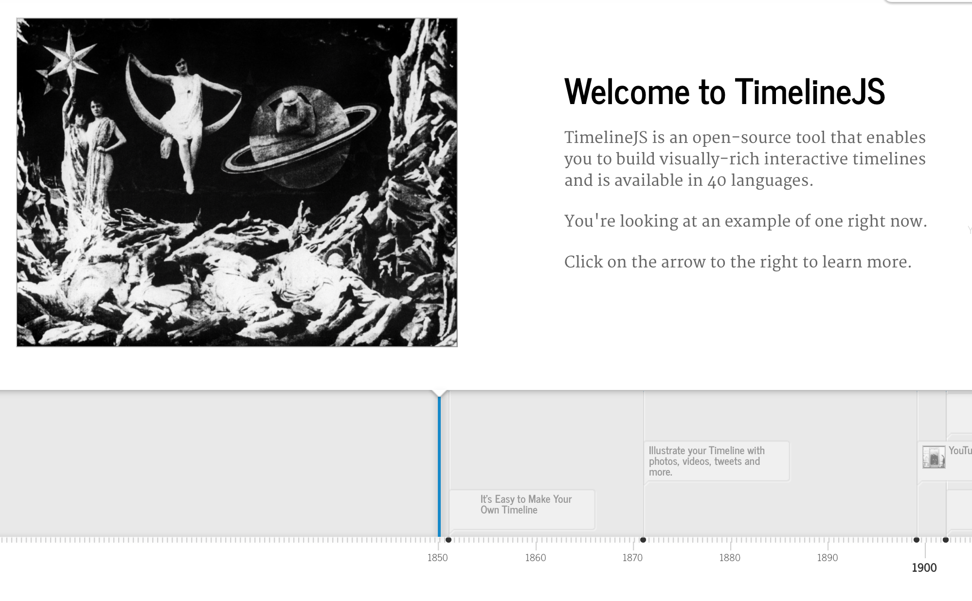 TimelineJS Embeds are now supported in Digication ePortfolios