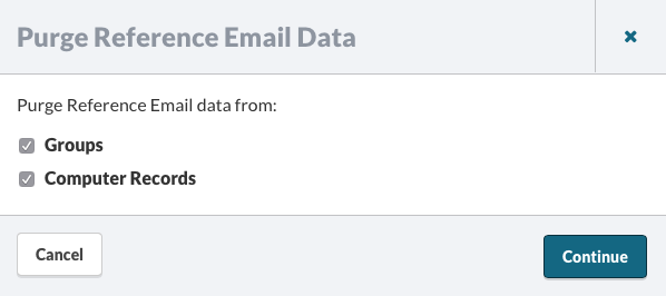 Purging Reference Email Data