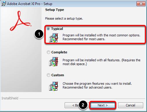 Select Setup Type