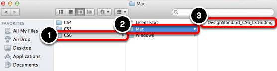 Connect to smb://software.oc.edu/dist/Adobe/DesignStandard/CS6/Mac