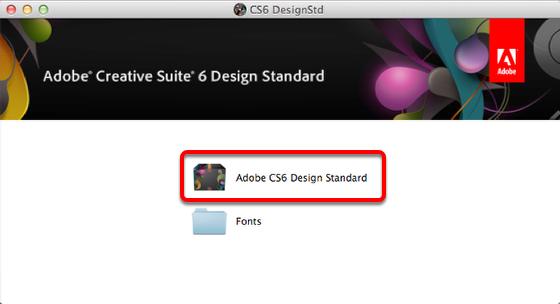 Double Click on Adobe CS6 Design Standard