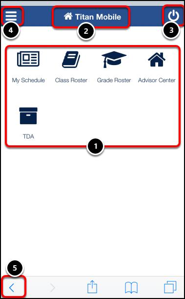 Titan Mobile home page