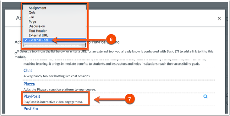 Select the PlayPosit Option