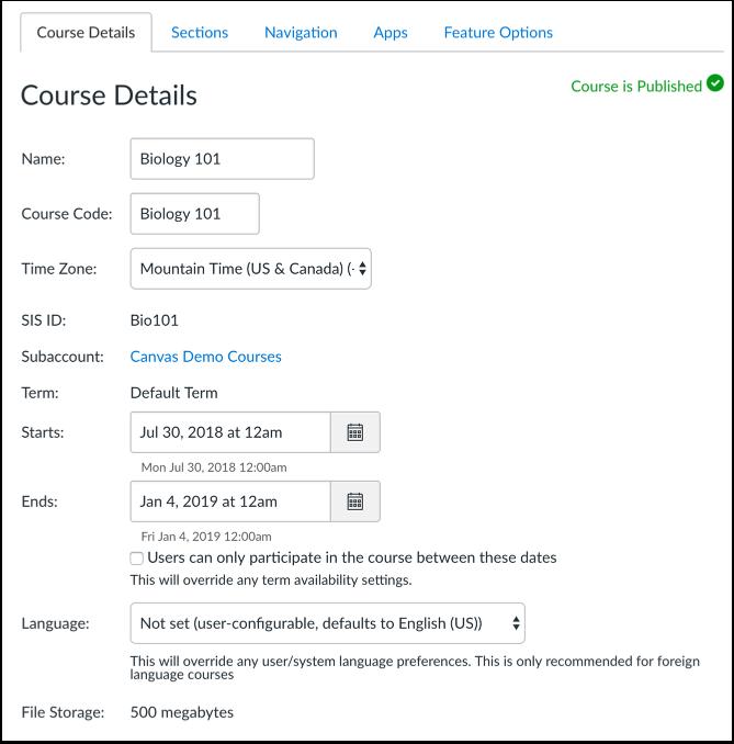 View Course Details