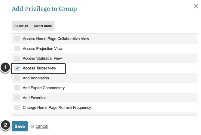 Grant Target View Privilege