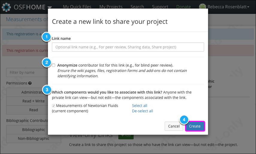 2. Create your link
