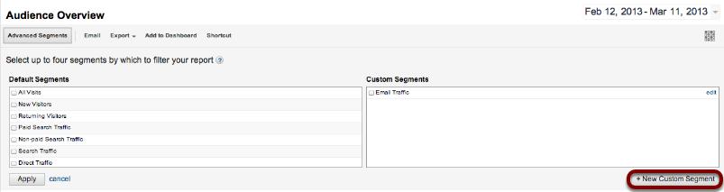 New Custom Segment