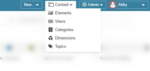 The Content menu