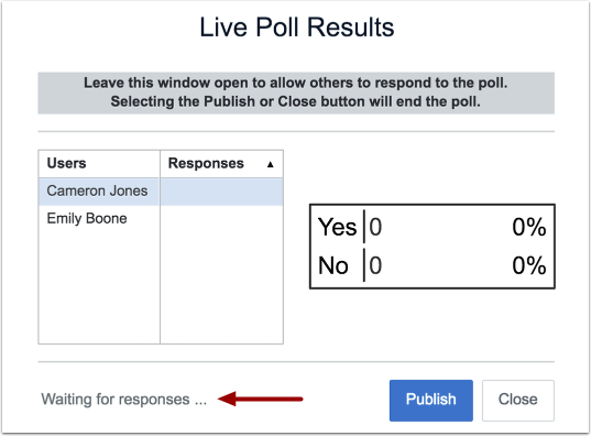 View Live Poll Results