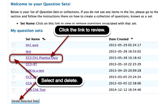 """Click """"CC3 Ch1 Practice Quiz"""" that you have previously saved."""