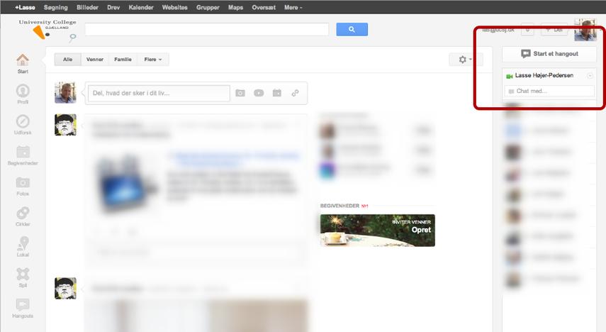 Du er nu i Google+