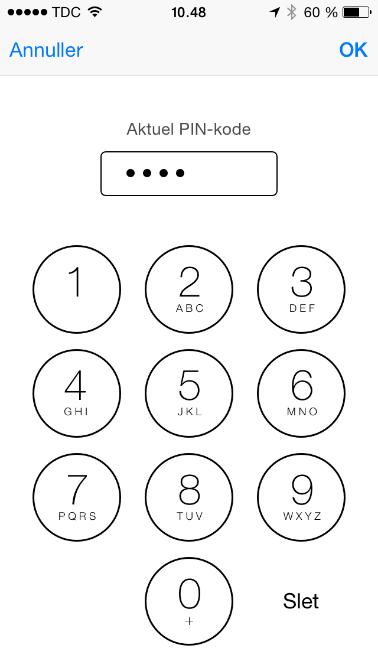 Aktuel PIN-kode