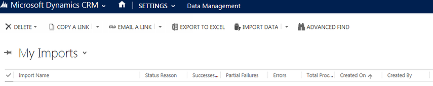 Select Import Data in the top toolbar to open the import wizard.