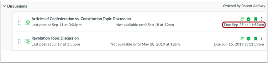 View Discussions Page