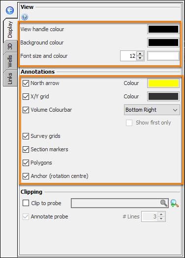 Define 3D View settings