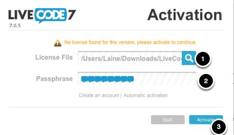 License LiveCode