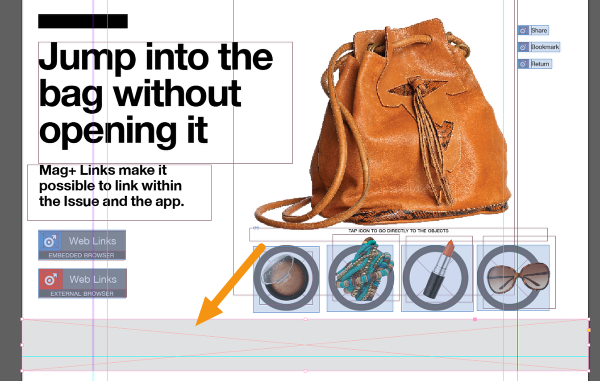 In your InDesign document, draw a box on a page at the size you want the ad to be.