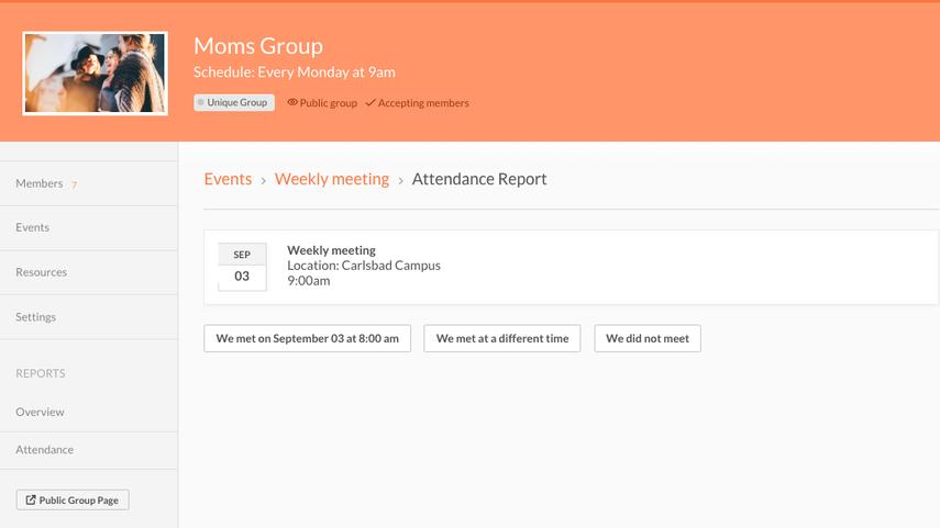Report attendance