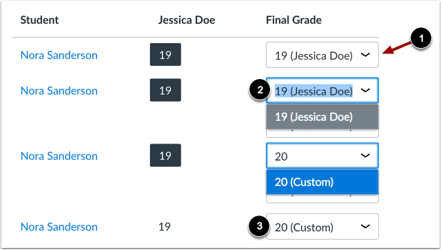 Set Custom Grade