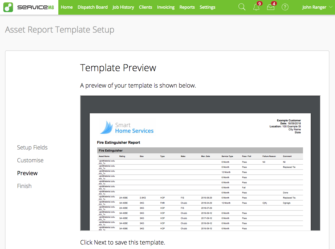 how reporting works with the asset management add on servicem8 help
