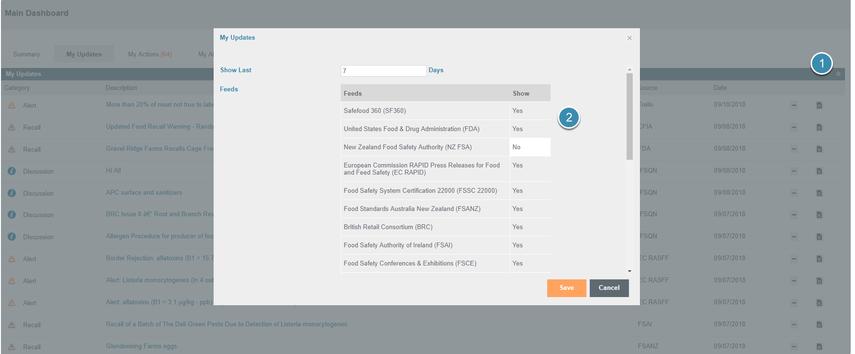 Modify Live Updates Sources