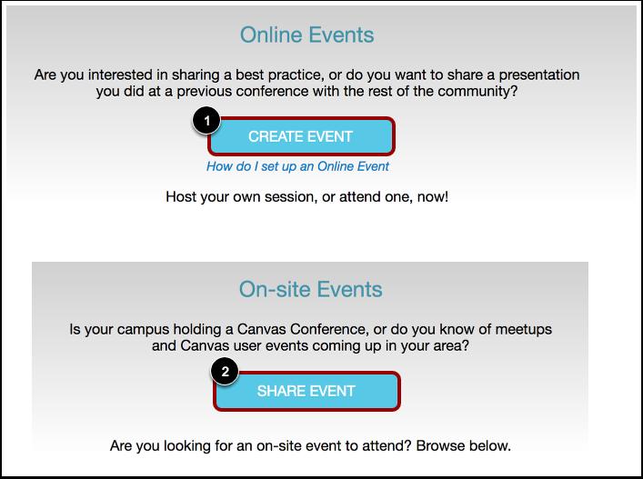 Create Online Event