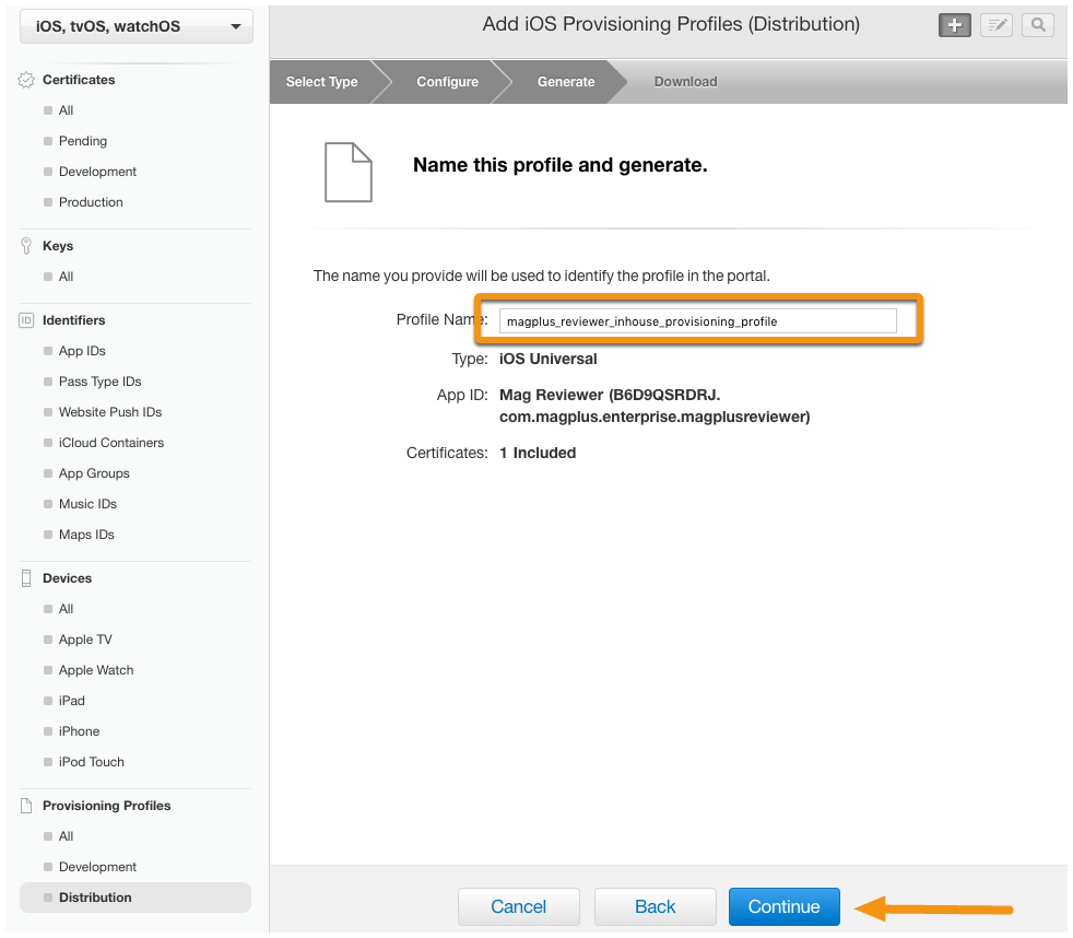 How to create In-House Distribution Provisioning Profile