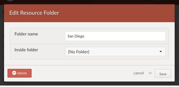 edit folder