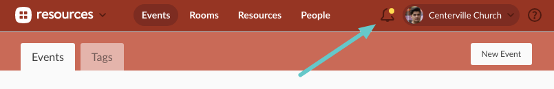 Click the yellow box next to your name to visit the Resource Requests page
