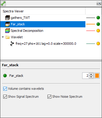 Define settings for gather volume in Spectra Analysis