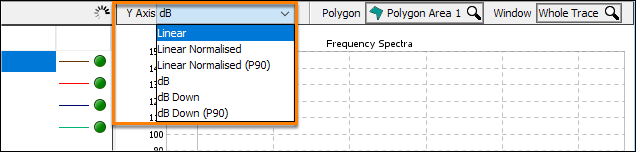 Configure Y-axis setting