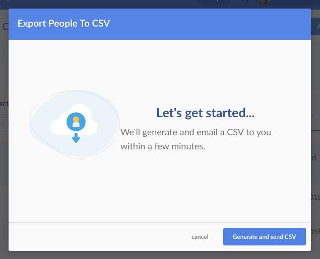generate and send CSV
