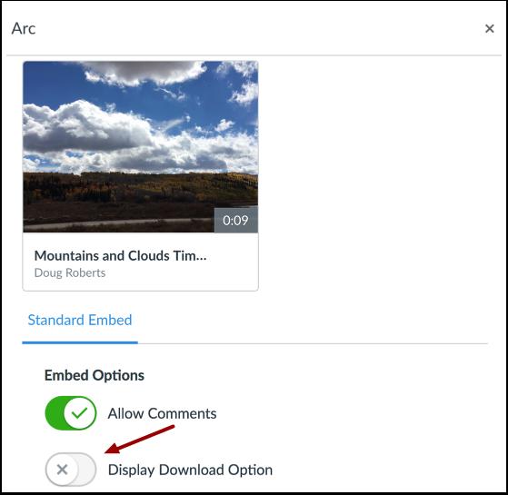 Display Download Option