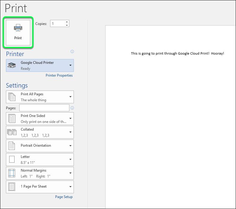 Send a Test Print!