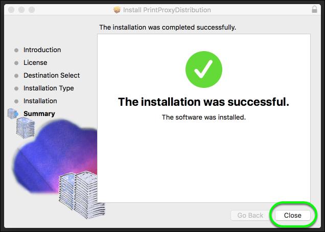 Install the PrintProxyDistribution app