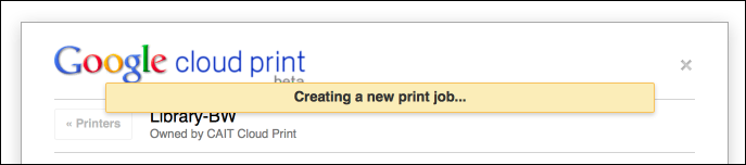 Cloud Print Sends Your Document to PrintServices