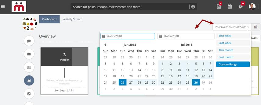 Exporting Classroom dashboard data